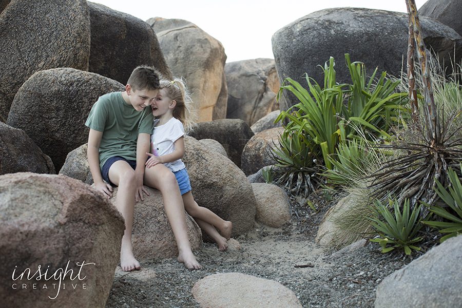 natural beach family photos shot by townsville photographer Megan Marano from Insight Creative