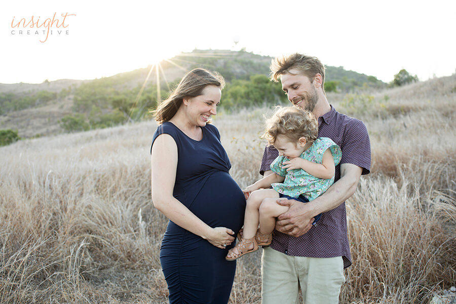 natural family and pregnancy photography by Townsville photographer Megan Marano of Insight Creative